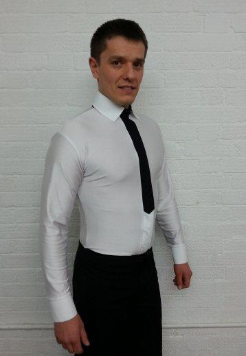 Mens shirt with Fake tie | ZEM DancesportUK